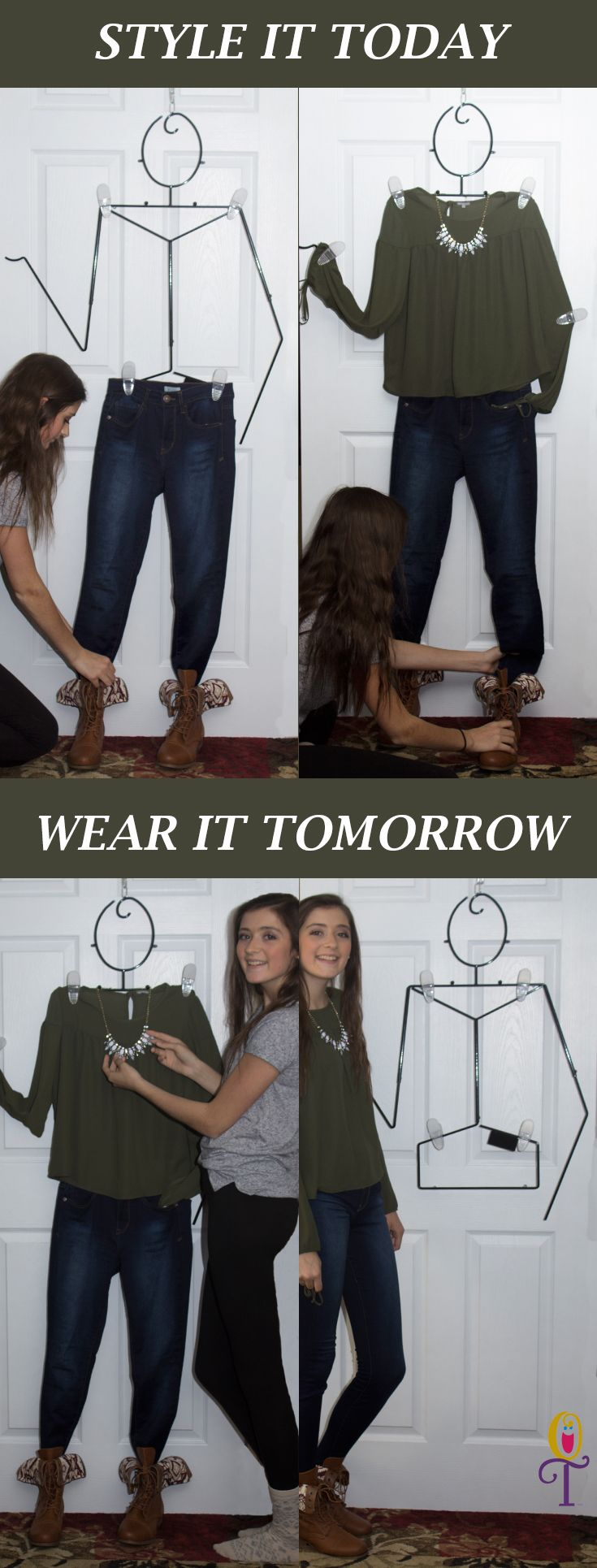 Style it today...wear it tomorrow!  Makes outfit planning fun and easy.  Plan your outfits for school.  girls bedroom ideas, gifts for girls