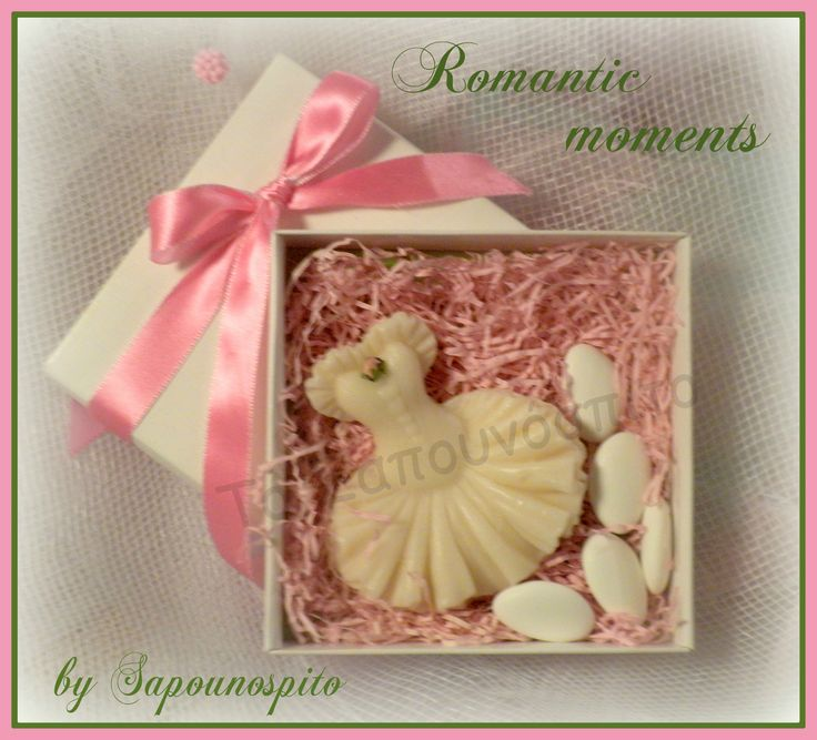 Balerina's dress soap! A special gift for christening guets!