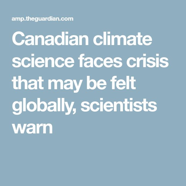 Scientists need longterm funding they can count on to plan multi-year studies. Climate research is vital and we can't afford to underfund this area. Canada's geography allows for studies that other countries can't do. Not every country has arctic or subarctic areas. And we can't count on Russia or the USA to do much.