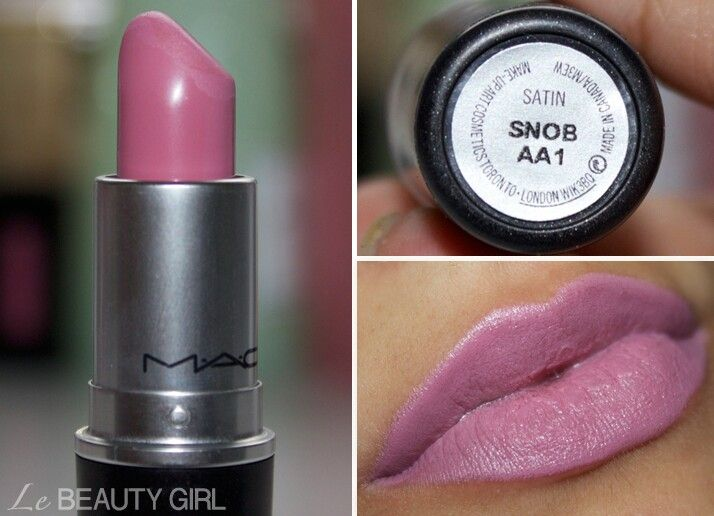 Mac makeup this is a beautiful color  the name is Snob who likes this color i know i do!!??