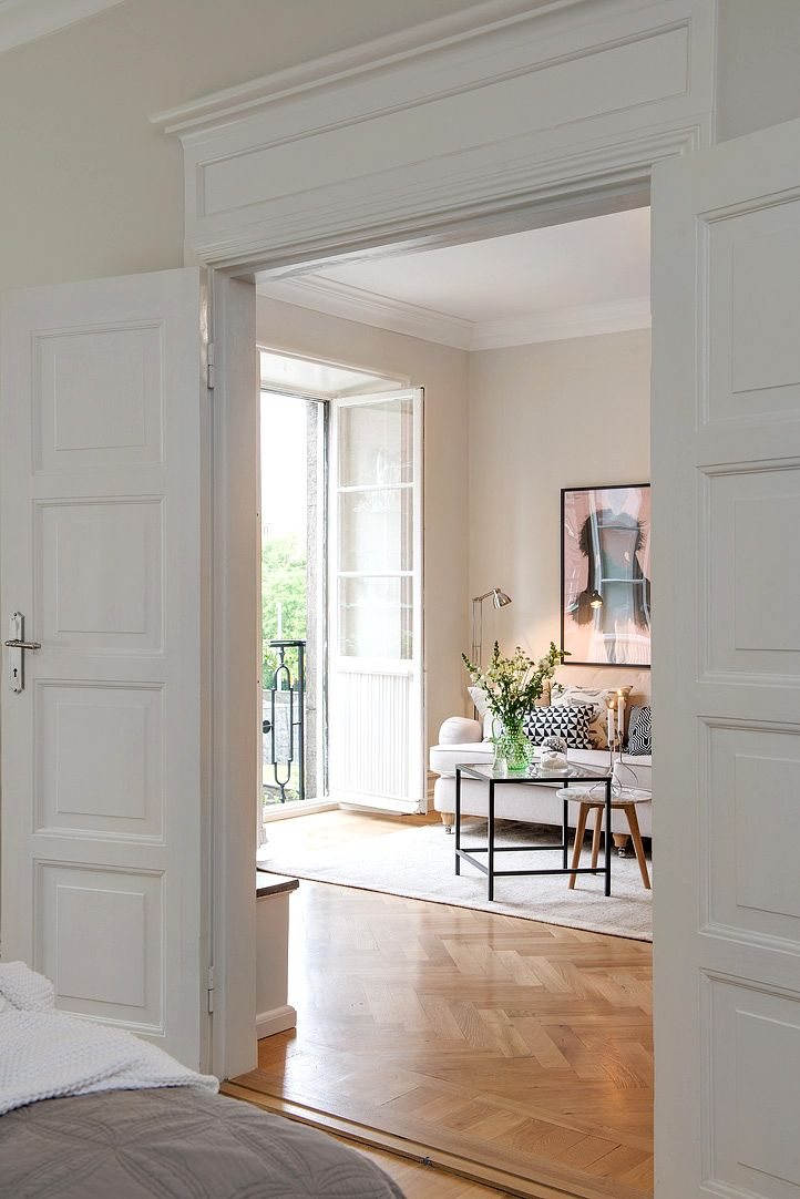 white panel doors & wood floors
