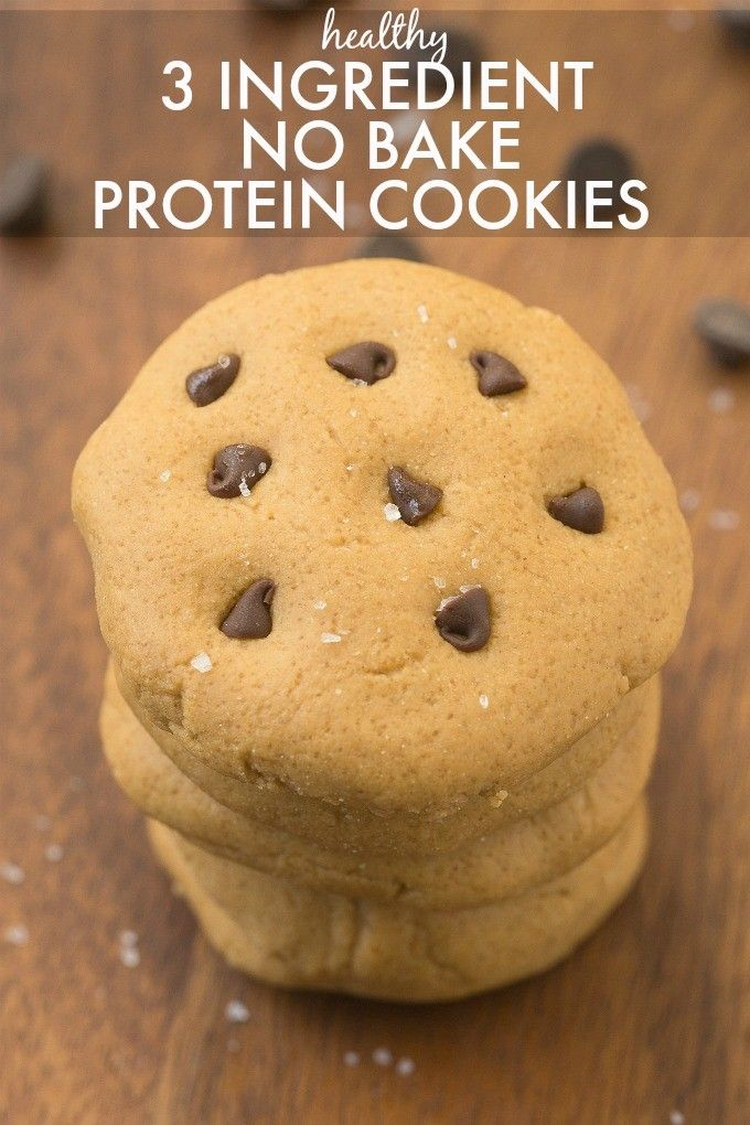 Ingredient No Bake Protein Cookies- Ready in 5 minutes, soft and fudgy ...