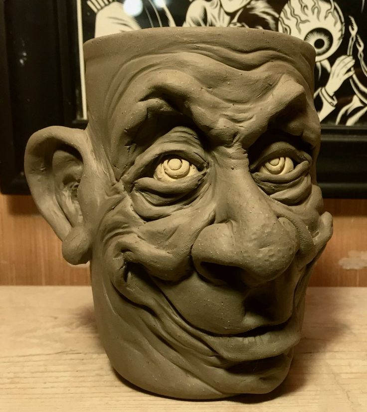 One Happy Mug- WIP by thebigduluth ~ My life won't be complete until I make one of these mug heads!!!