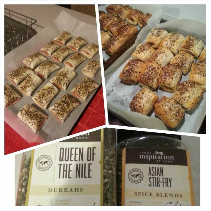Spicy Homemade Sausage Rolls using YIAH Asian Stir-Fry & Queen of the Nile Dukkah.