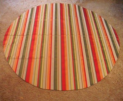 DIY Round Tablecloth