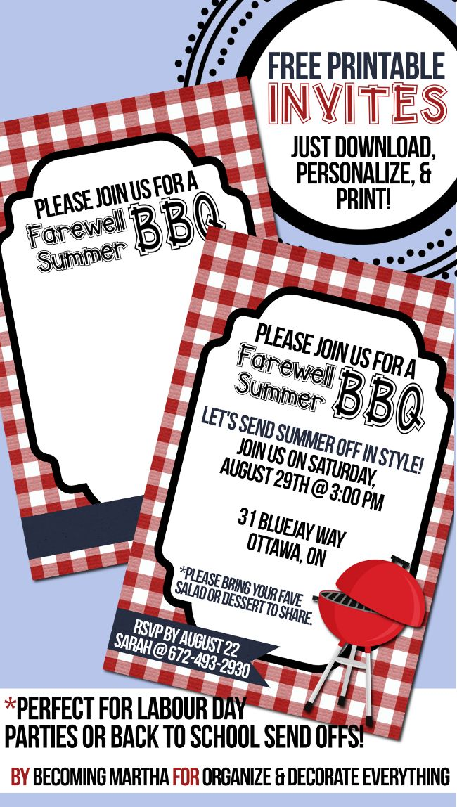 77 best Printables images on Pinterest Free printables, Ad home - bbq invitation template