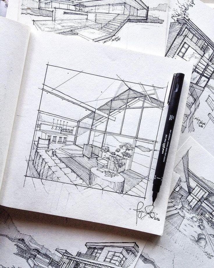 Zeichnen von Architektur / Architekturzeichnung
