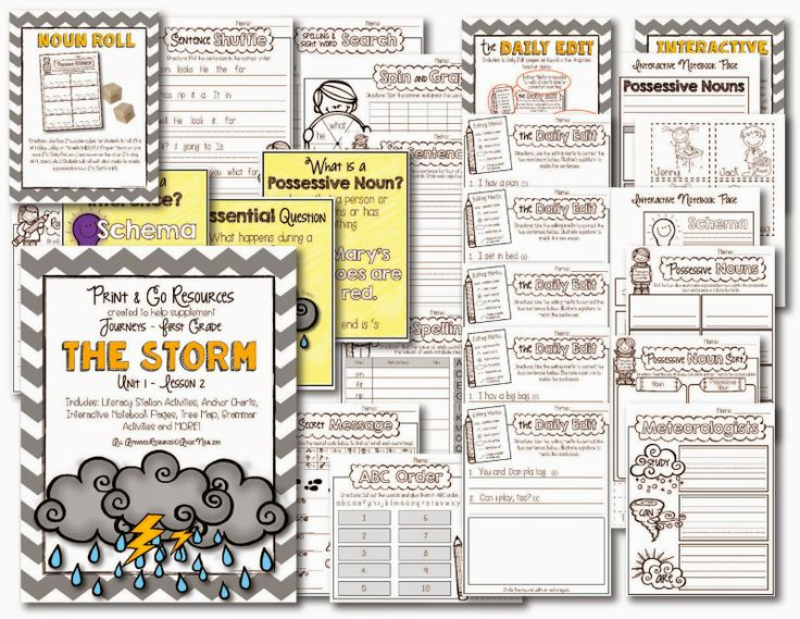 Print and Go Packet for Journeys First Grade
