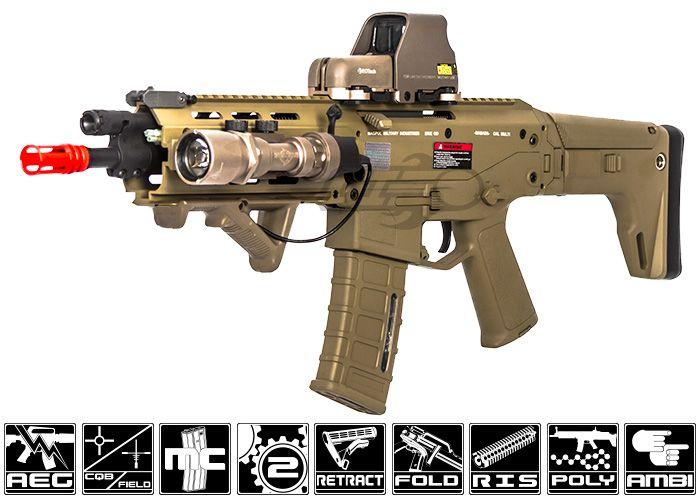 A&K Full Metal Magpul Masada ACR RIS CQB AEG Airsoft Gun ( Licensed Trademarks / Coyote Tan )