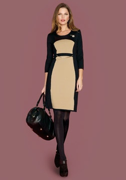 #Vestido #dress #black #negro #brown #marron #midi