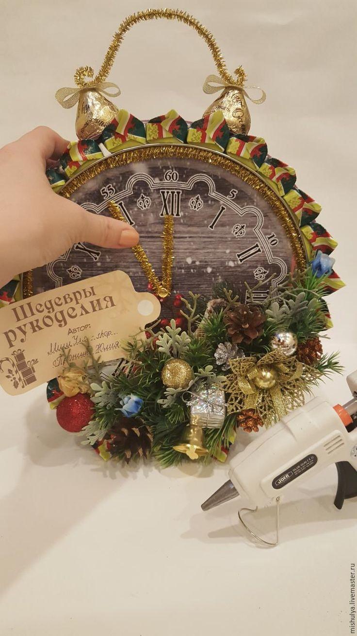 Делаем композицию «Будильник» из конфет и жестяной банки для печенья - Ярмарка Мастеров - ручная работа, handmade