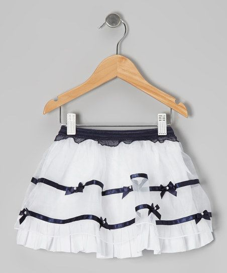 White Ribbon Bow Skirt - Toddler & Girls