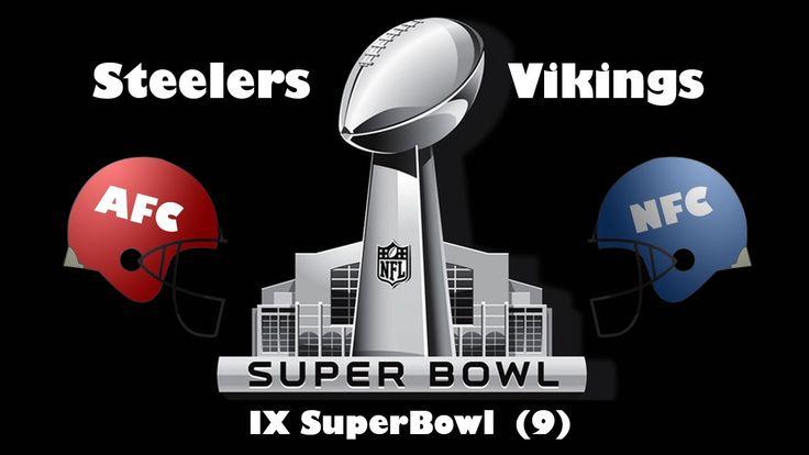 1975 Super Bowl IX Steelers Vs Vikings