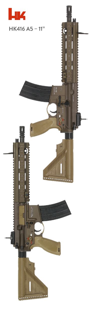 """HK416 A5 11"""" - www.Rgrips.com Find our speedloader now! http://www.amazon.com/shops/raeind"""