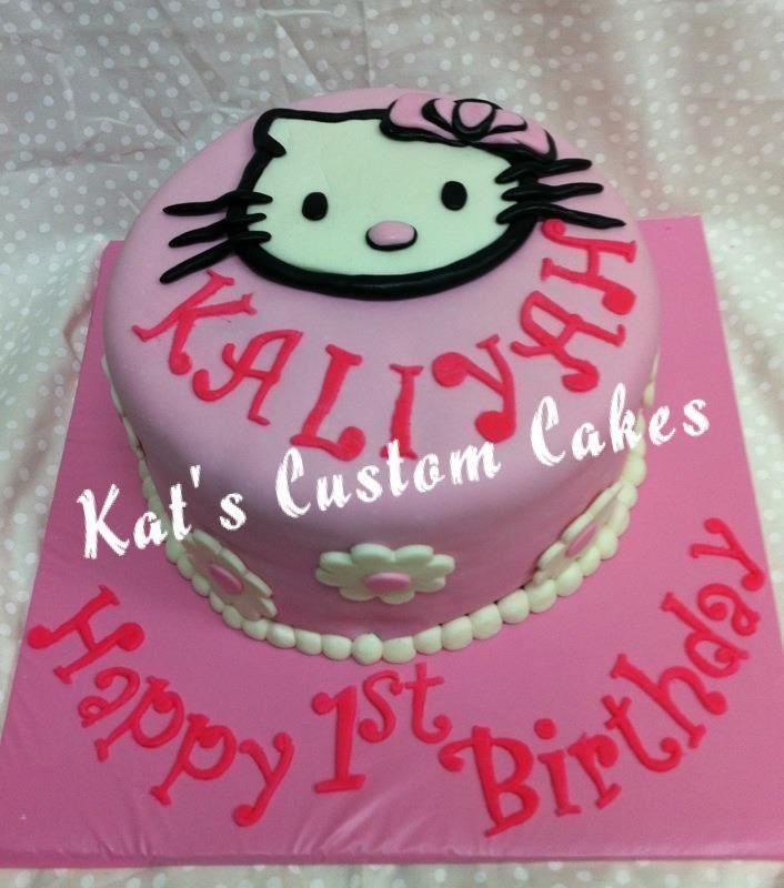 Cake Hello Kitty Pink : Hello Kitty 1st birthday cake First Birthday Cakes ...