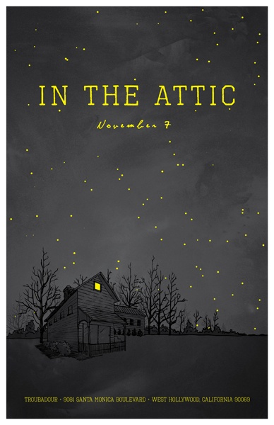 In the Attic, by DKNG.: 2008 Poster, Http Stores Dkngstudios Com, Poster Design, Design Dkng, Graphics Design, Covers Design, Http Stores Dkngstudio Com, Poster Quadro-Negro, Dkng Studios