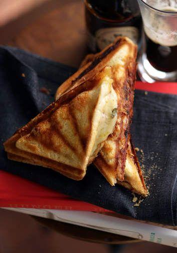 Brigitte Hafner's ham and gruyere croque monsieur. Pro tip: put the mustard on the ham, NOT the bread, for maximum flavour.
