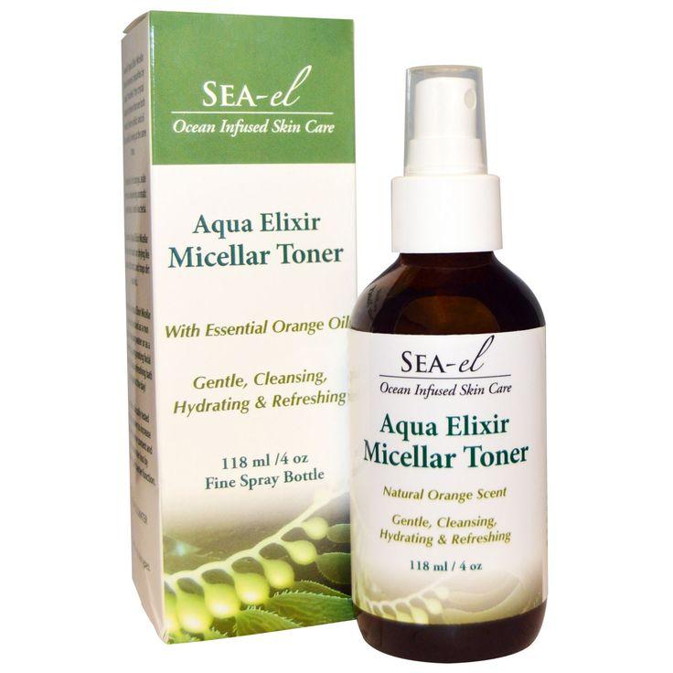 Sea el, Aqua Elixir Micellar Toner, 4 oz (118 ml)