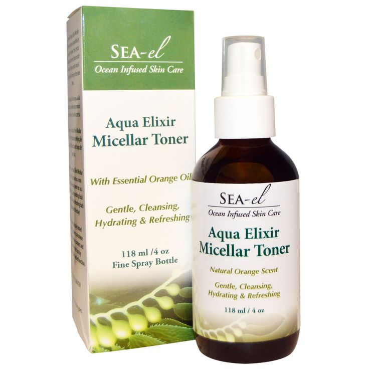 Sea el, Aqua Elixir Micellar Toner, 4 oz (118 ml)