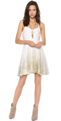 Bought this and it's more flattering in person!! Free People Foil Ombre Lace Fit N Flare Dress