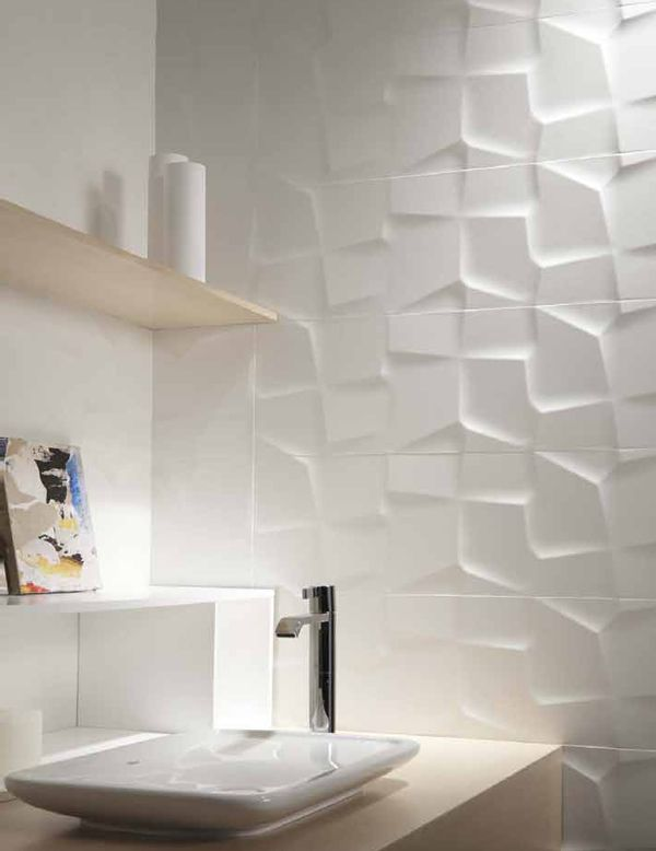 Create uniqueness in just one selection porcelain wall for Bathroom creator 3d
