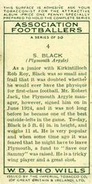 1935-36 W.D. & H.O. Wills Association Footballers #4 Sammy Black  Back