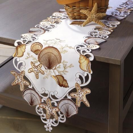 Seashell Cutwork Table Runner $19.99 Now: $14.99