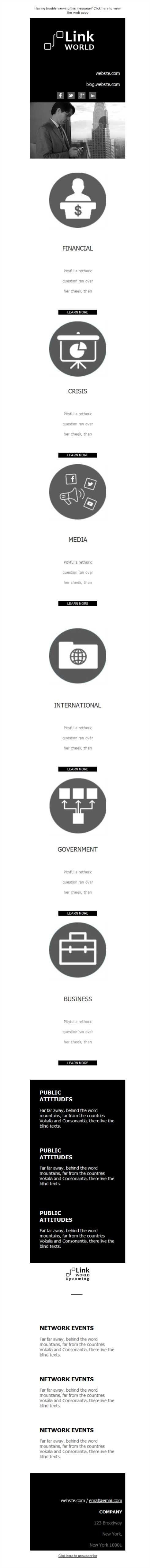 Versión responsive de plantillas newsletter para agencias de relaciones públicas, ¿quieres probar gratis? Con Mailify, puedes.