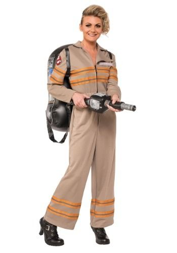 You'll be ready to fight off ghosts in this Women's Deluxe Plus Size Ghostbusters Movie Costume!