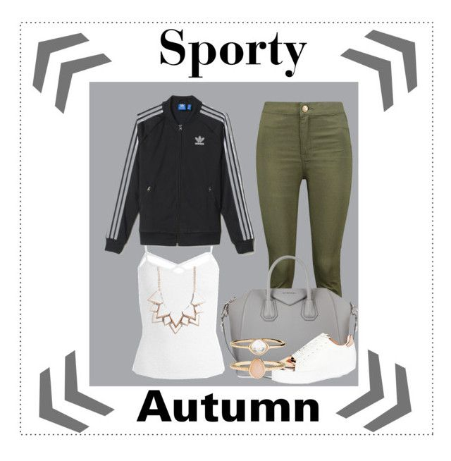 """autumn baddie #6"" by kiwijulin on Polyvore featuring Boohoo, Givenchy, ASOS, Sans Souci, adidas, Full Tilt and Accessorize"