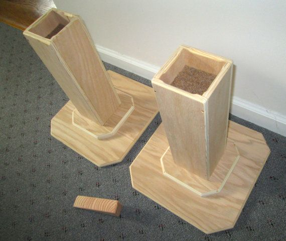 Dorm Room Bed Risers 14 Inch All Wood Construction by Odyssey359