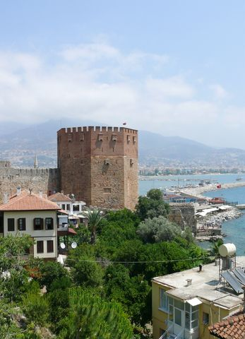 Beautiful view of city Alanya in turkey