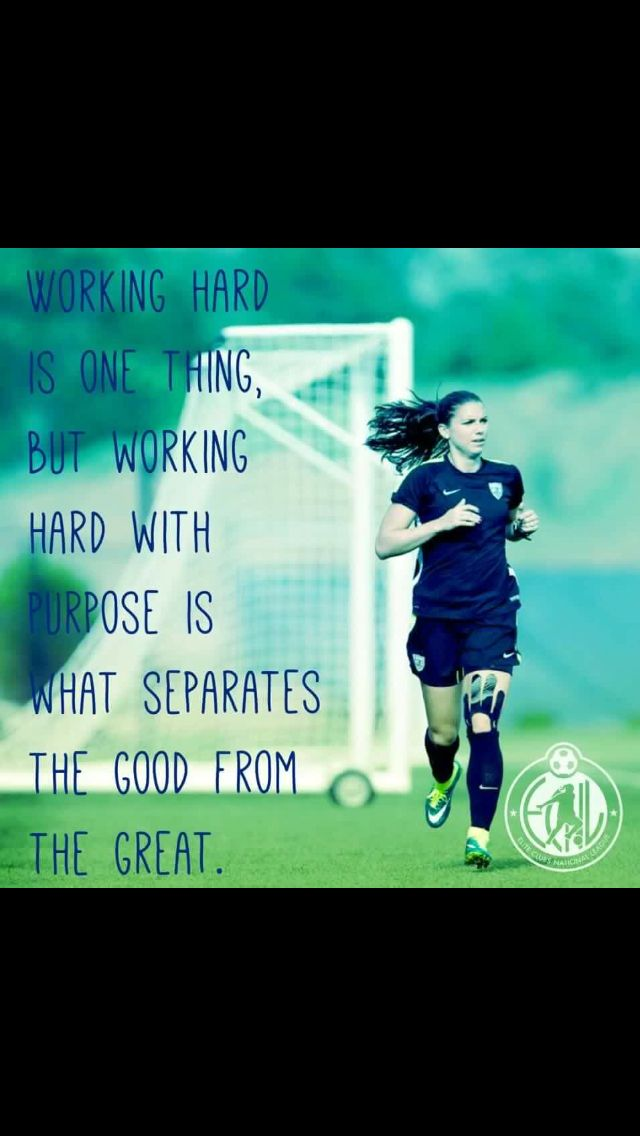 Working hard is one thing, but working hard with purpose is what separates the good from the great.