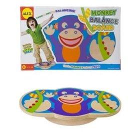 Monkey balance board, great indoor sensory seeking idea!