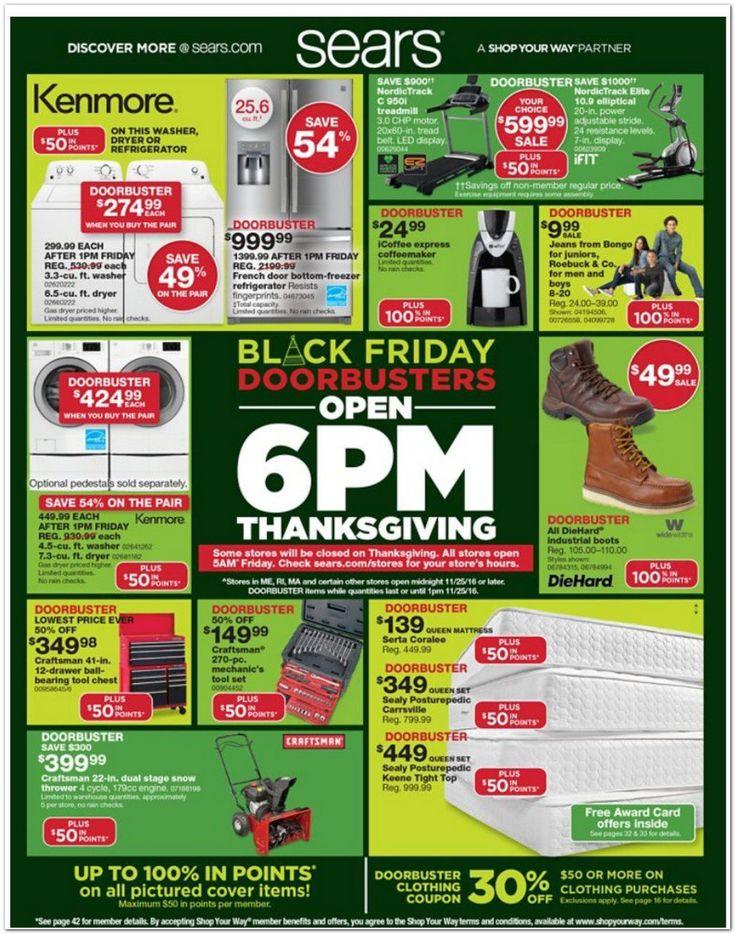 Sears Black Friday Ad 2016 - http://www.hblackfridaydeals.com/