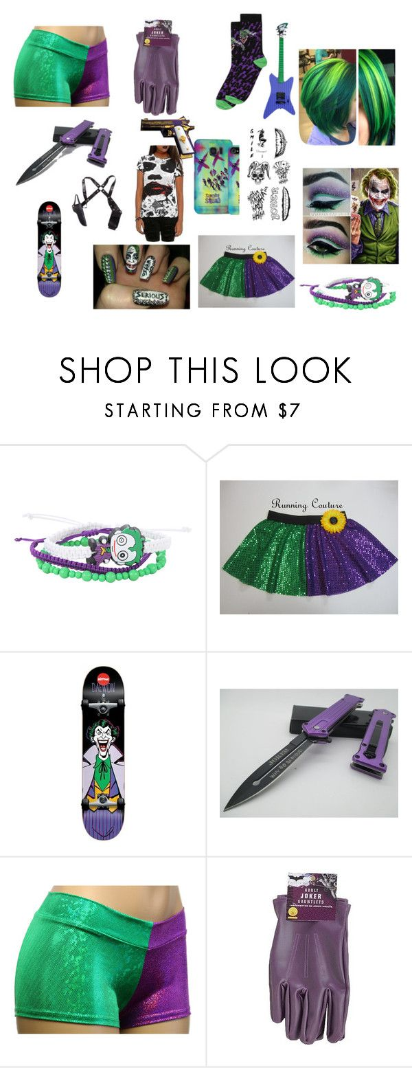"""""""Woman's Joker Outfit"""" by cheshirecatisback ❤ liked on Polyvore featuring DC Comics and jared"""