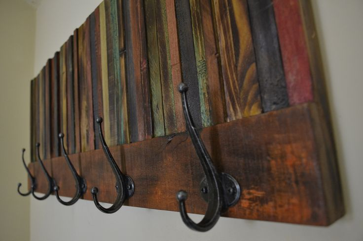 Coat hanger from reclaimed wood. A unique piece for unique homes.