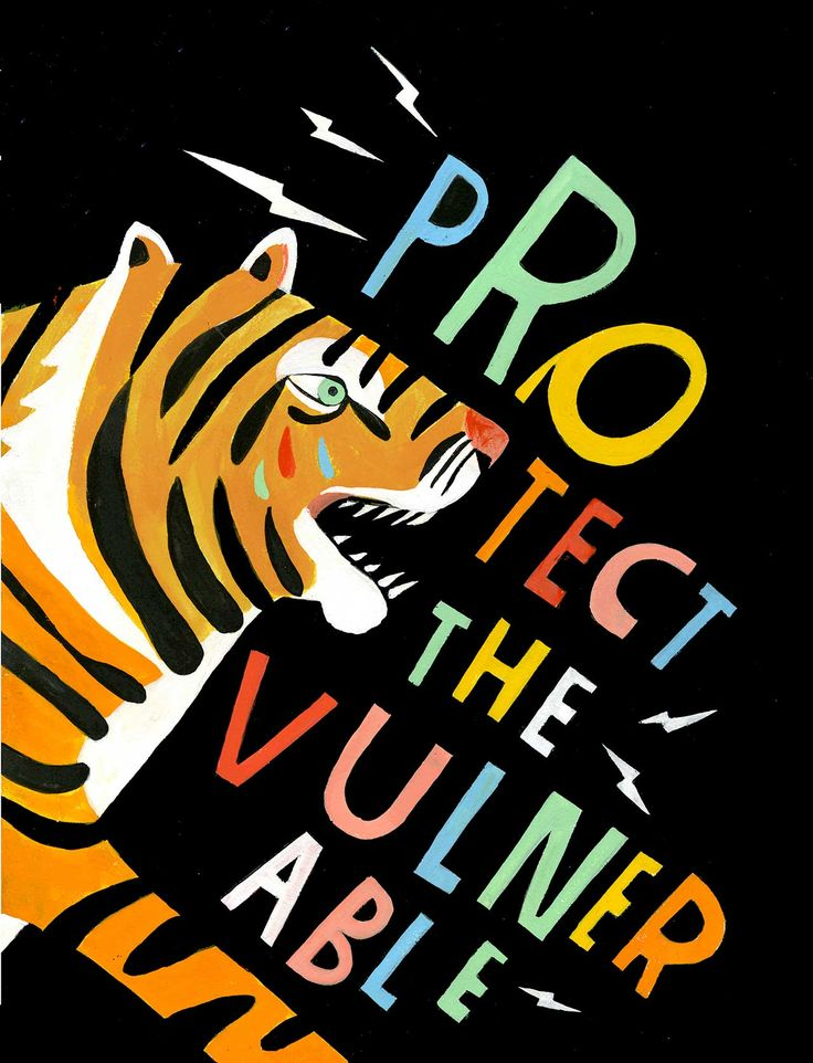 Illustration - illustration - Protect the Vulnerable Art Print - Lisa Congdon illustration : – Picture : – Description Protect the Vulnerable Art Print – Lisa Congdon -Read More – Art And Illustration, Cartoon Illustrations, Grafik Design, Vulnerability, Art Inspo, Graphic Art, Original Artwork, Typography, Art Prints