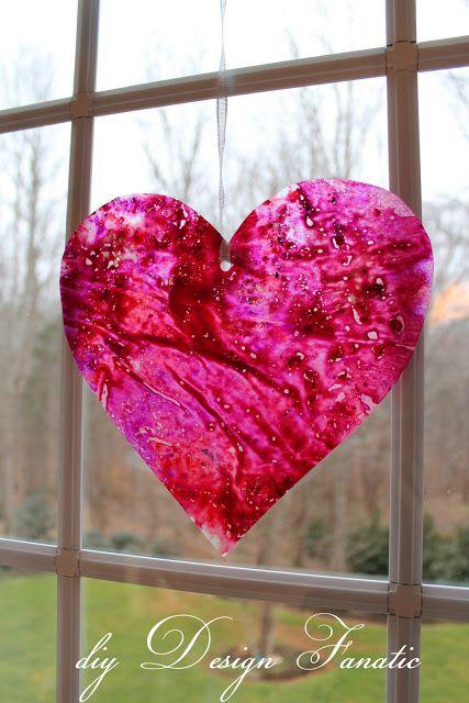 DIY-Wax Paper Crayon Hearts
