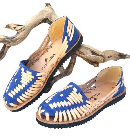 Blue Huarache Sandals by Camboria. Ethnic & boho look