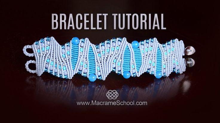 Artistic Macramé Bracelet Tutorial by Macrame School. For more Micro Macrame ideas and Free Tutorials please visit: http://www.MacrameSchool.com or see all b...
