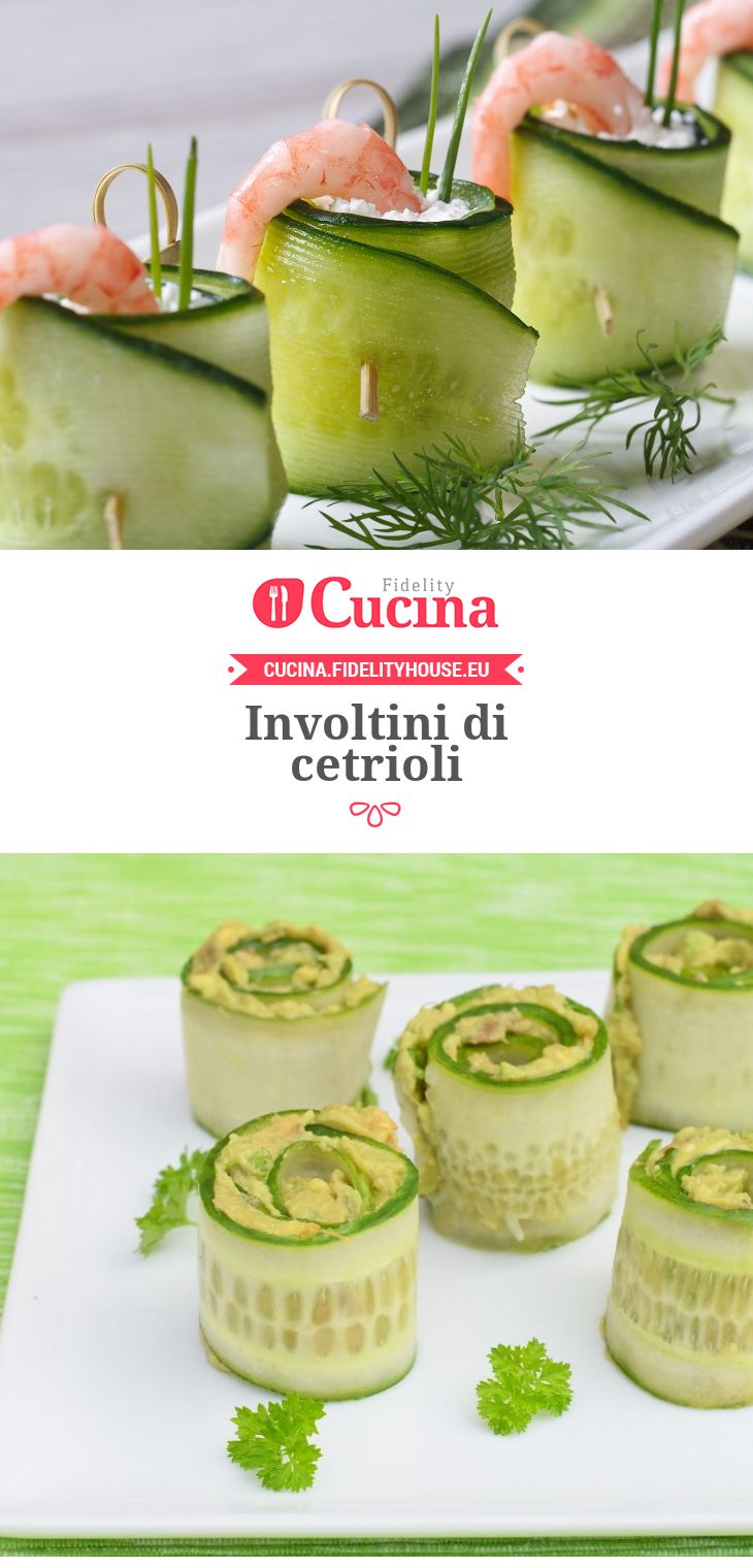 Involtini di cetrioli