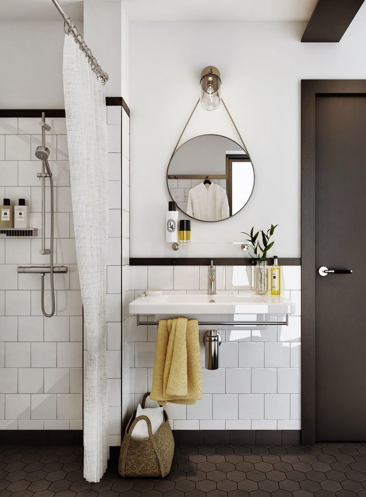 我們看到了。我們是生活@家。: 北歐的黑白極簡美學,運用在衛浴更顯清爽!瑞典房地產Oscar Properties