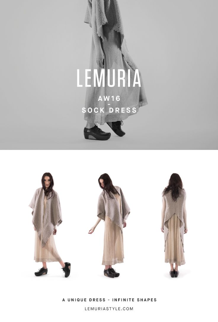 Cardigan dress in light kitting. #woman #clothing #multifunctional #convertible #dress #italy #brand #designclothing #design #italianbrand #boutique #cotton #jersey #lemuria #collection #dress #overall #aw16