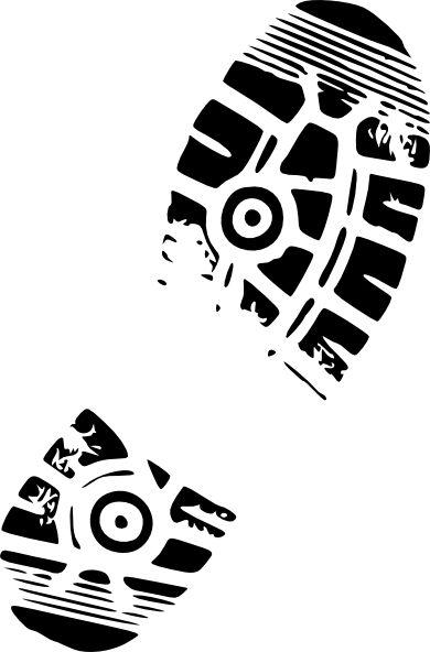 clip art running shoes | Running Shoe Print For Track clip art - vector clip art online ...