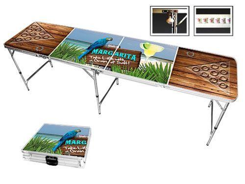 Margarita beach beer pong table – Wide Variety of Beer Pong Tables - Skip's Garage #skipsgarage #skipsbeerpong #beerpong #amazon #beerpongtable #collegeparty #margarita #beach