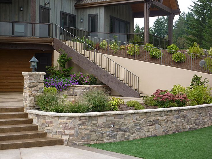 retaining wall: Landscape Wall, Stacking Stones, 900 Cottageston Jpg 900 675, Stones Retaining Wall, Flats Stones, Outdoor Gardens, Photo Galleries, Landscape Retaining, Curves