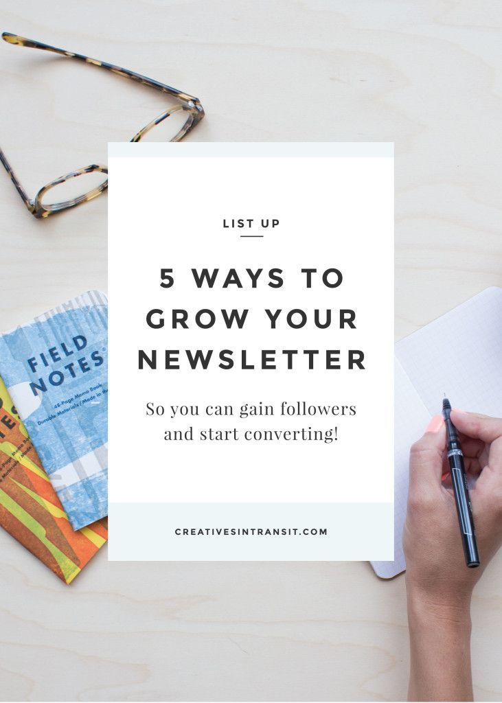 5 Ways to Grow Your Newsletter. Grow your email list and get sign-ups. Convert your followers to buyers. Click through to learn how to sell with email marketing.