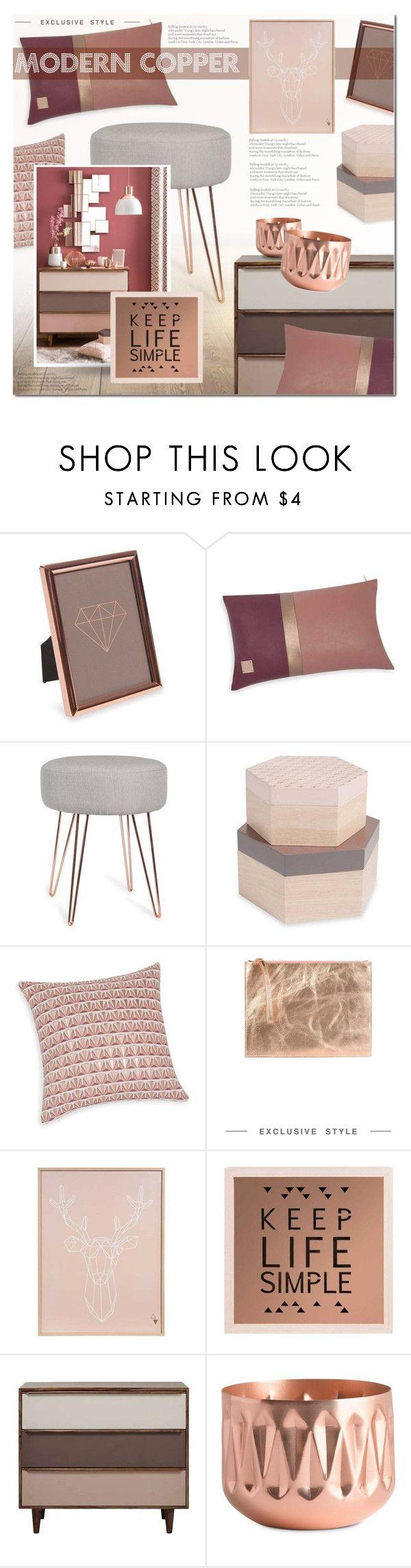 """Modern Copper"" by anna-anica on Polyvore featuring interior, interiors, interior design, home, home decor, interior decorating, George J. Love, ESPRIT, Illume and modern"