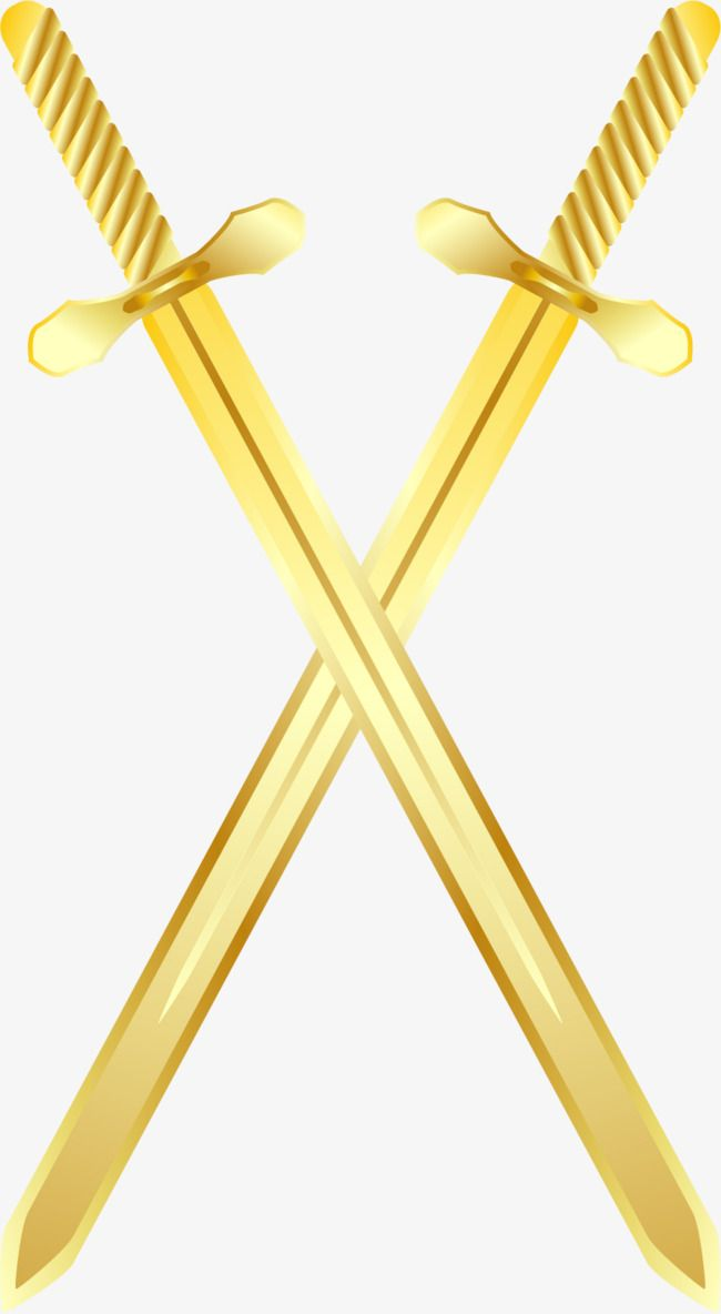 Vector Painted Gold Sword Gold Vector Sword Vector Vector Png Transparent Clipart Image And Psd File For Free Download Sword Painting Clip Art